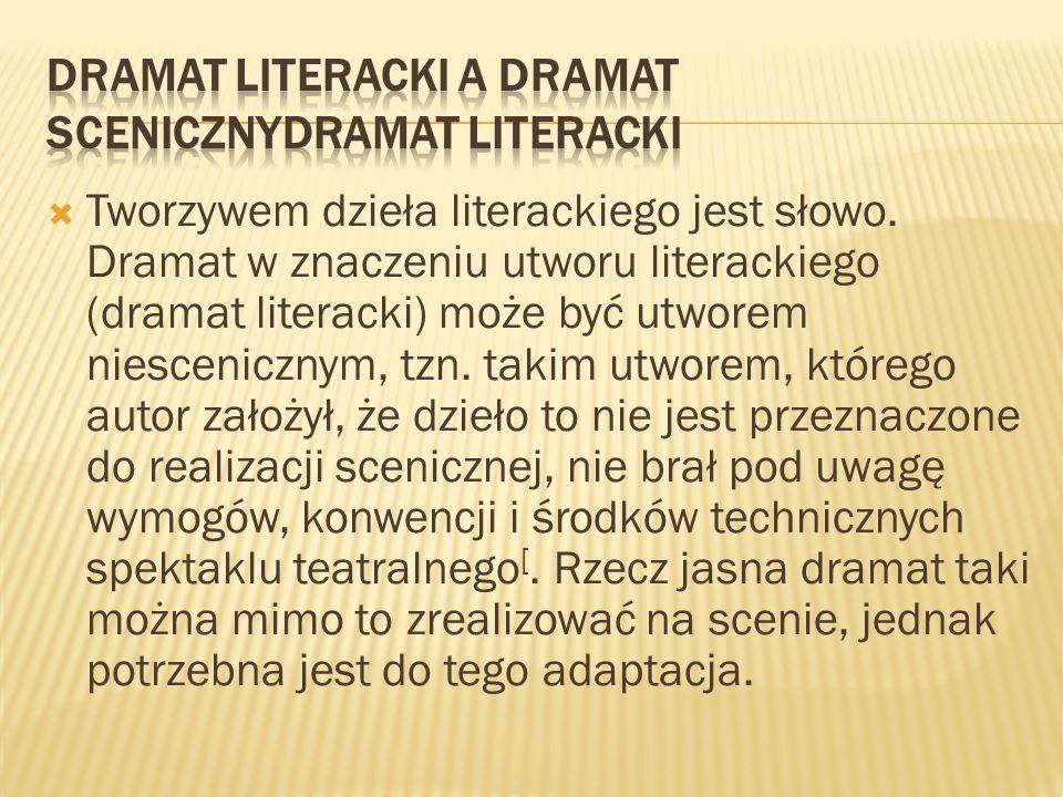 Dramat literacki a dramat scenicznyDramat literacki