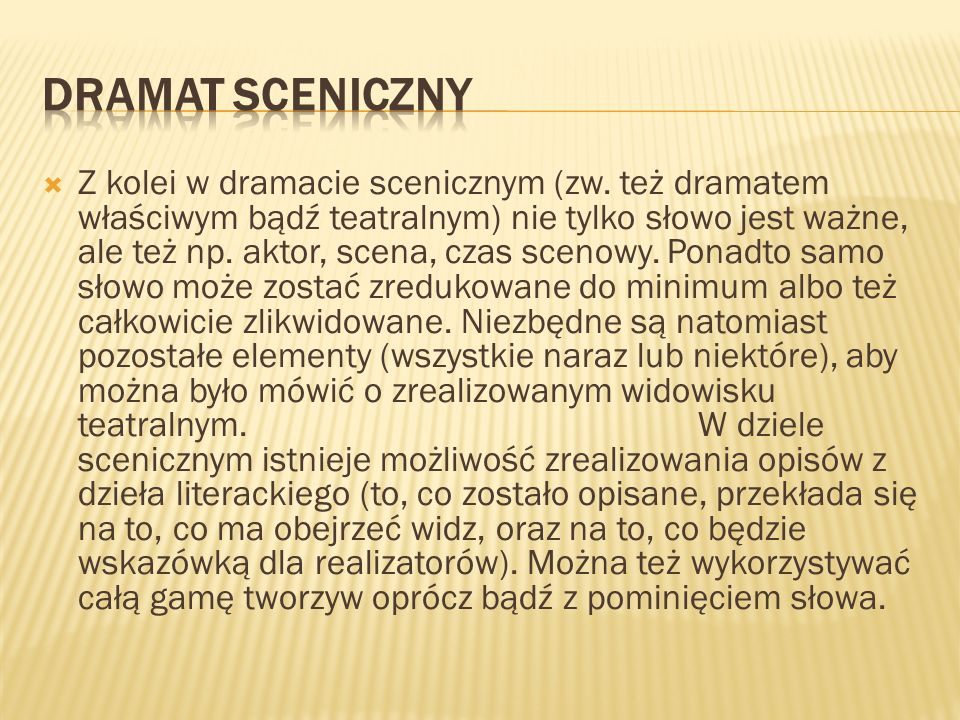 Dramat sceniczny