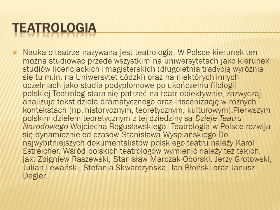 Teatrologia
