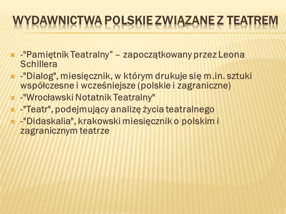 Wydawnictwa polskie związane z teatrem