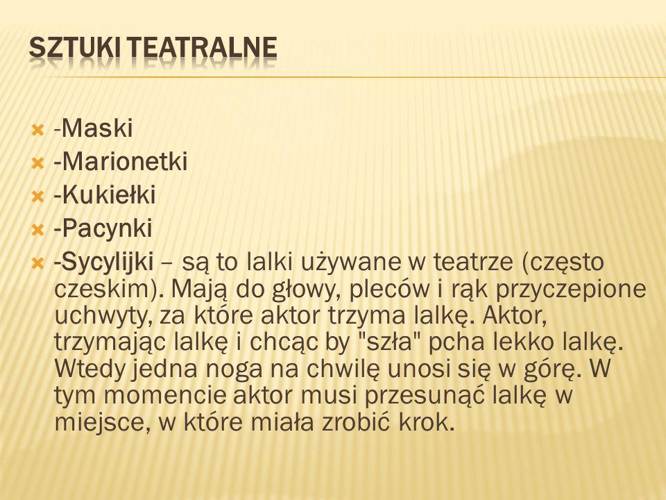 Sztuki teatralne -Maski -Marionetki -Kukiełki -Pacynki