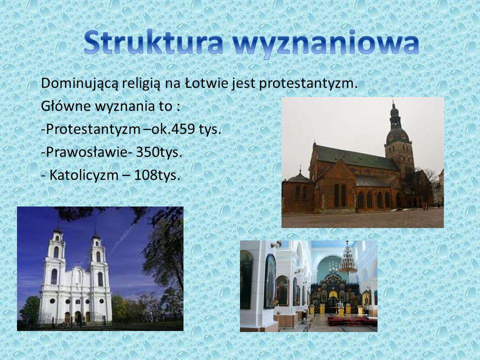Struktura wyznaniowa Dominującą religią na Łotwie jest protestantyzm.