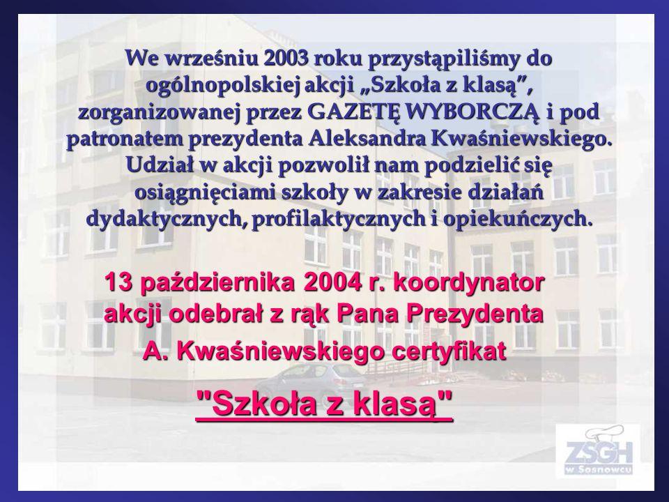 A. Kwaśniewskiego certyfikat