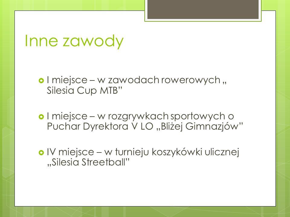"""Inne zawody I miejsce – w zawodach rowerowych """" Silesia Cup MTB"""
