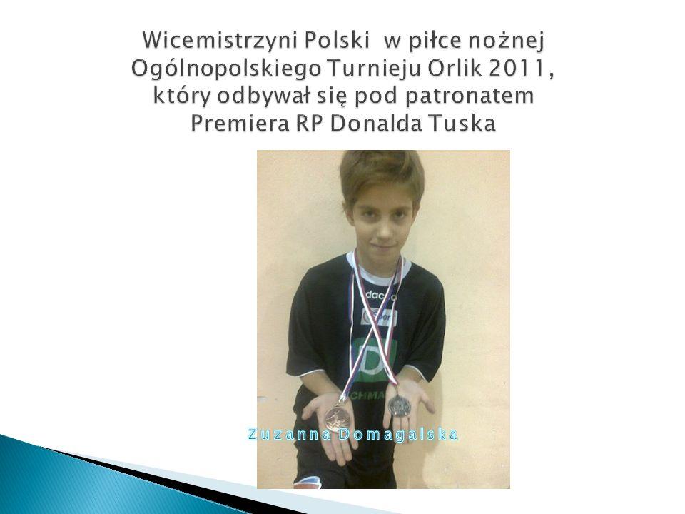 Wicemistrzyni Polski w piłce nożnej Ogólnopolskiego Turnieju Orlik 2011, który odbywał się pod patronatem Premiera RP Donalda Tuska