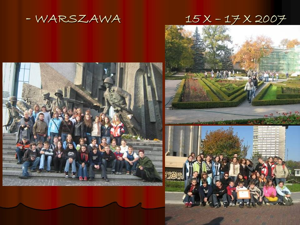 - WARSZAWA 15 X – 17 X 2007