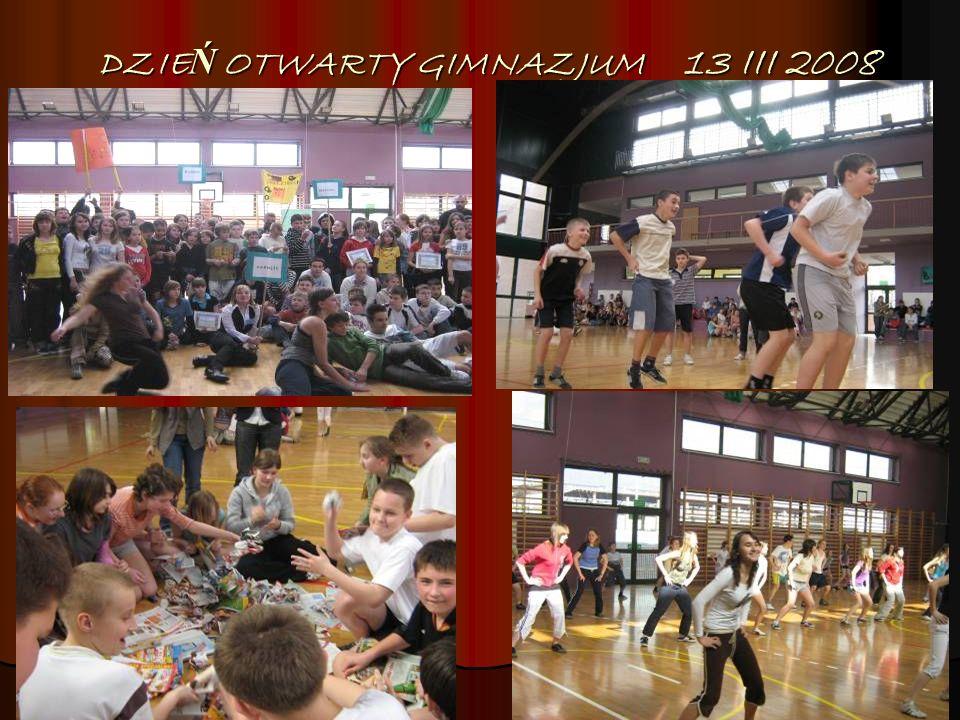 DZIEŃ OTWARTY GIMNAZJUM 13 III 2008