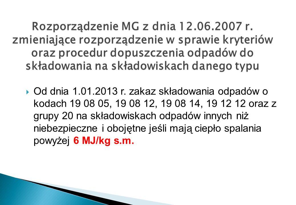 Rozporządzenie MG z dnia 12. 06. 2007 r