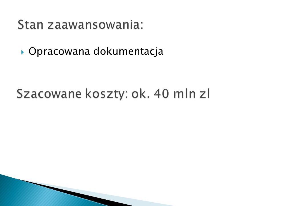 Szacowane koszty: ok. 40 mln zl