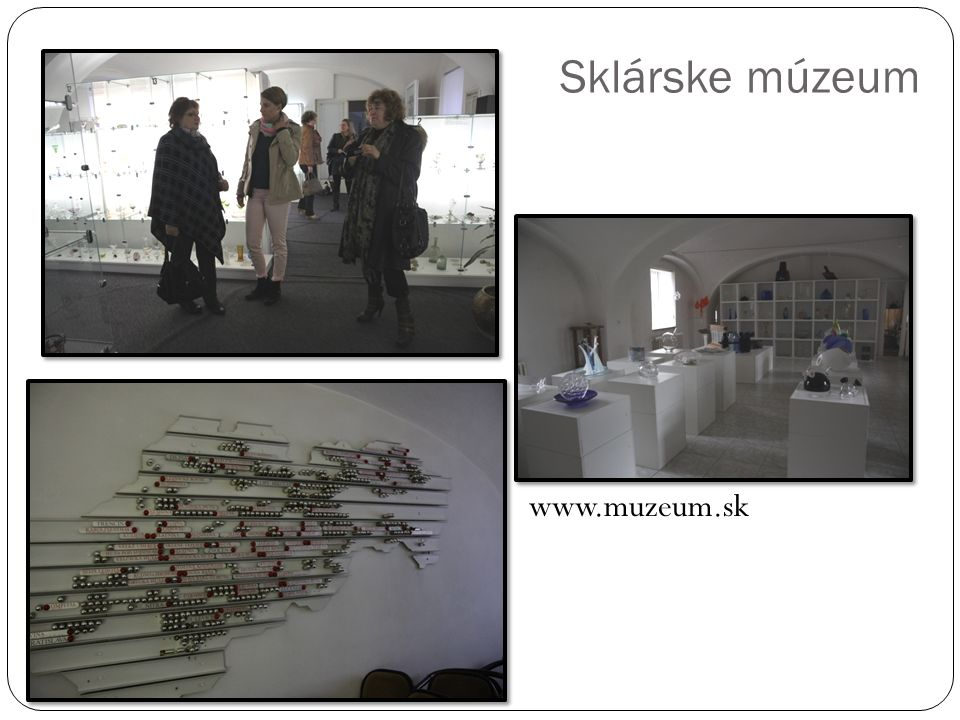 Sklárske múzeum www.muzeum.sk