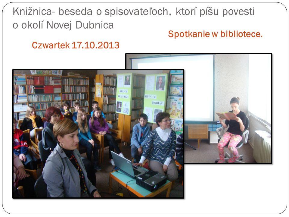 Spotkanie w bibliotece.