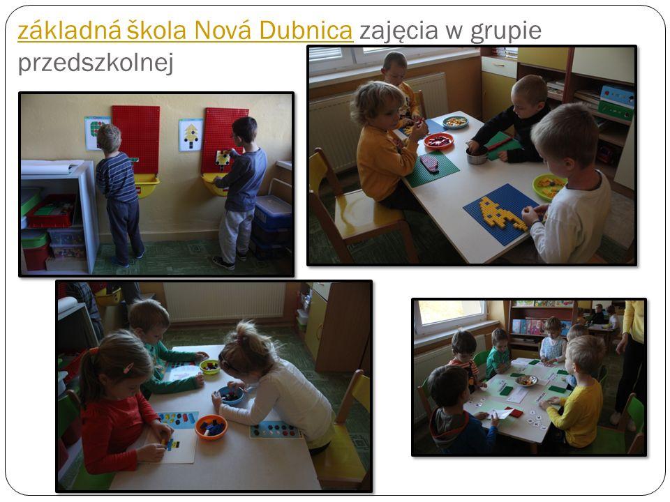 základná škola Nová Dubnica zajęcia w grupie przedszkolnej