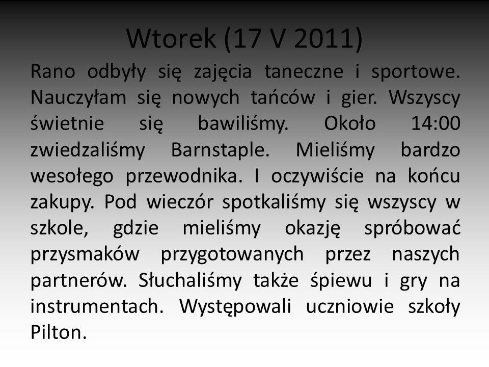 Wtorek (17 V 2011)