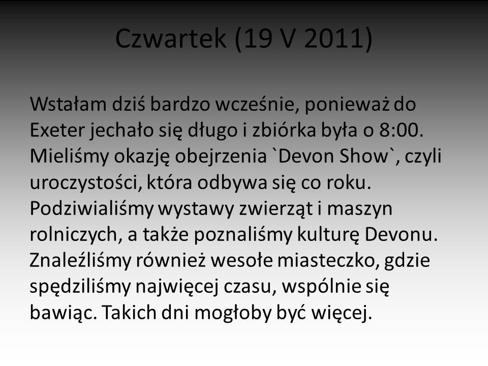 Czwartek (19 V 2011)