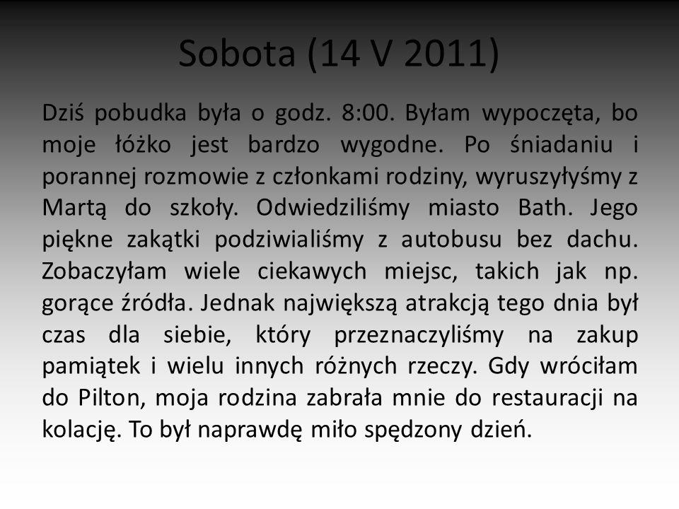 Sobota (14 V 2011)