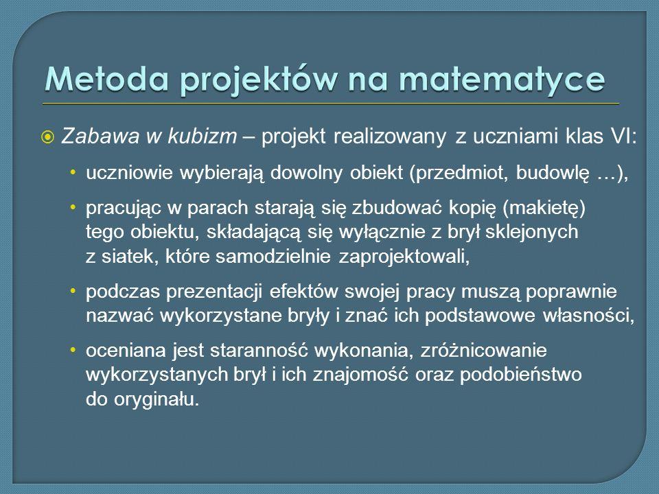 Metoda projektów na matematyce