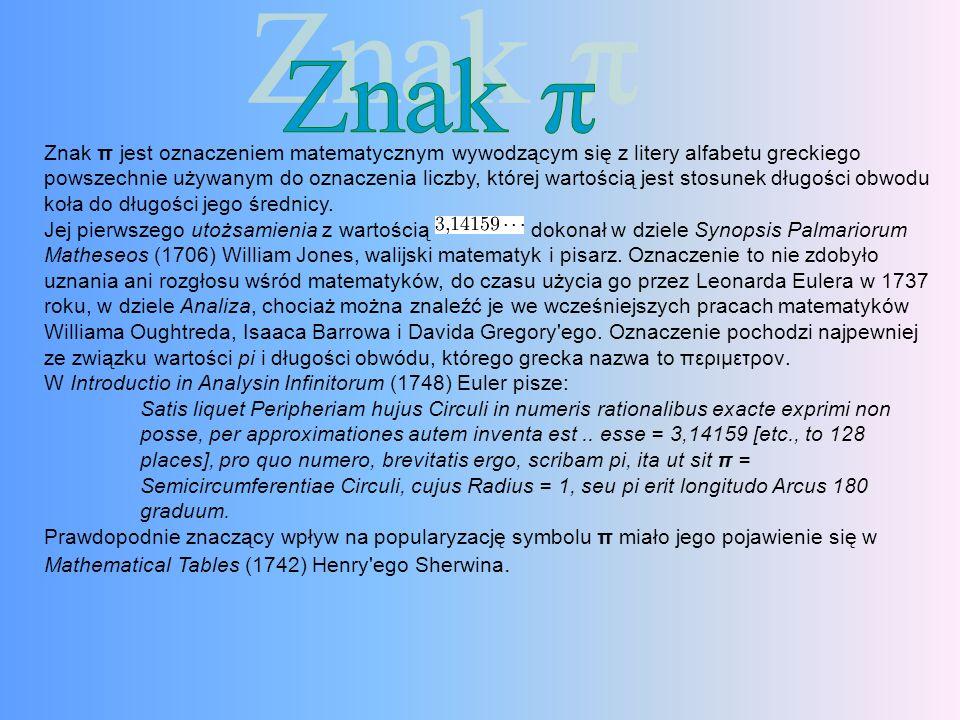 Znak π