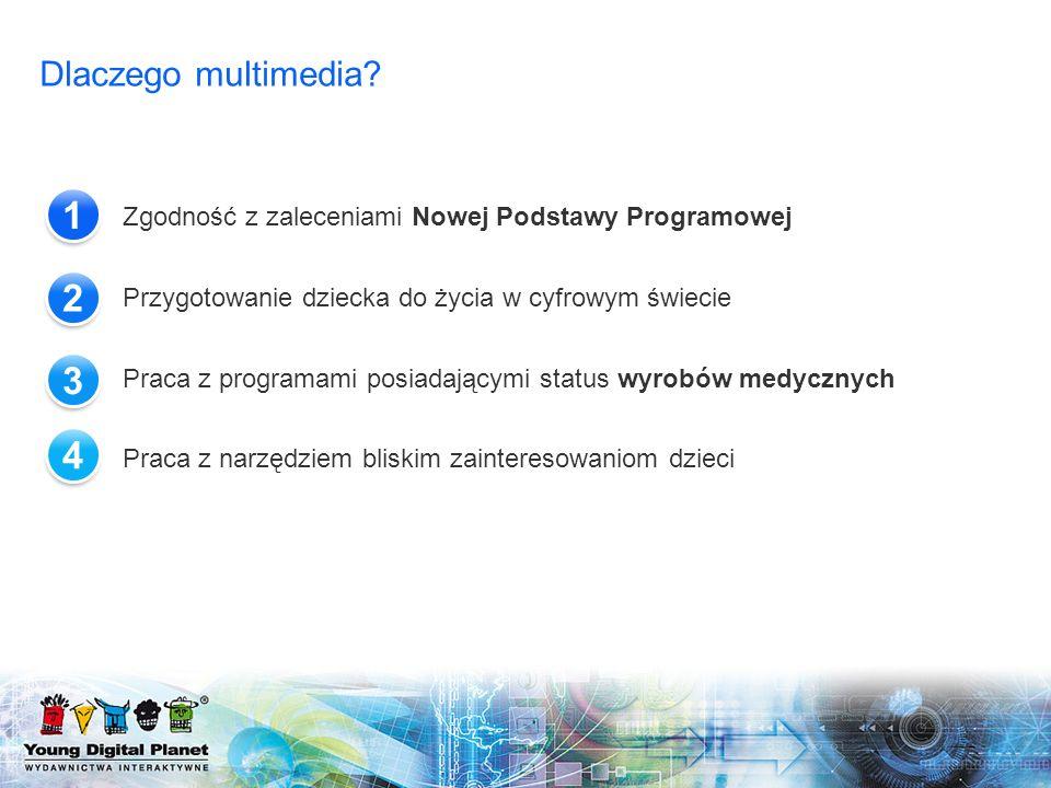 Dlaczego multimedia 1. Zgodność z zaleceniami Nowej Podstawy Programowej. Przygotowanie dziecka do życia w cyfrowym świecie.