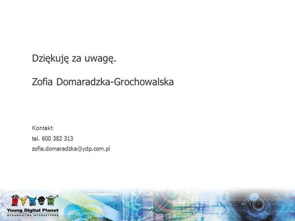 Dziękuję za uwagę. Zofia Domaradzka-Grochowalska
