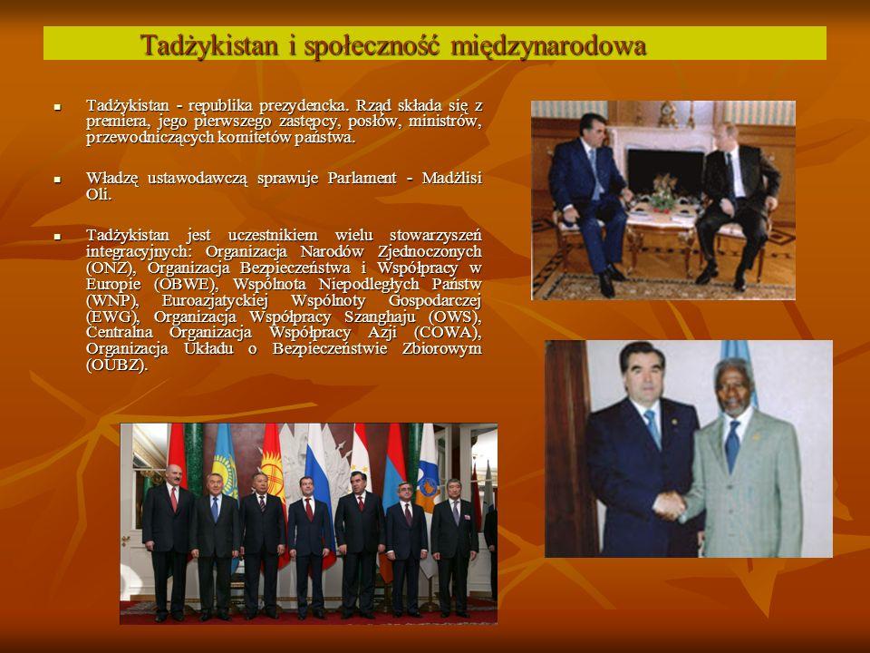 Tadżykistan i społeczność międzynarodowa