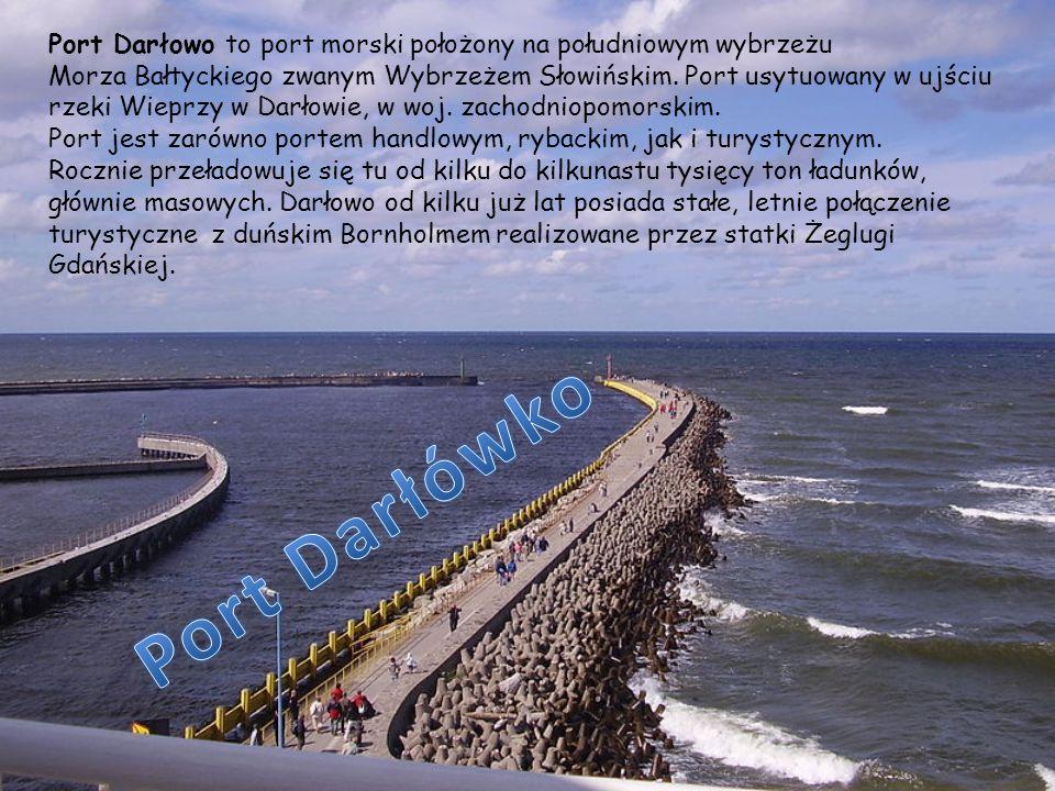 Port Darłowo to port morski położony na południowym wybrzeżu