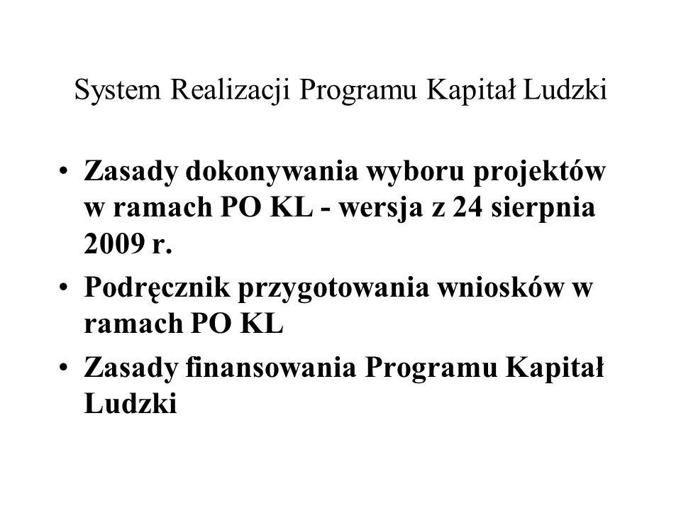 System Realizacji Programu Kapitał Ludzki