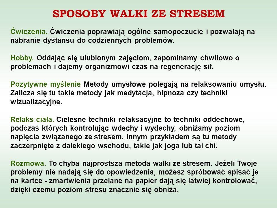 SPOSOBY WALKI ZE STRESEM