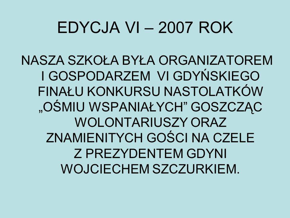 EDYCJA VI – 2007 ROK