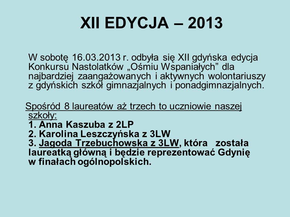 XII EDYCJA – 2013