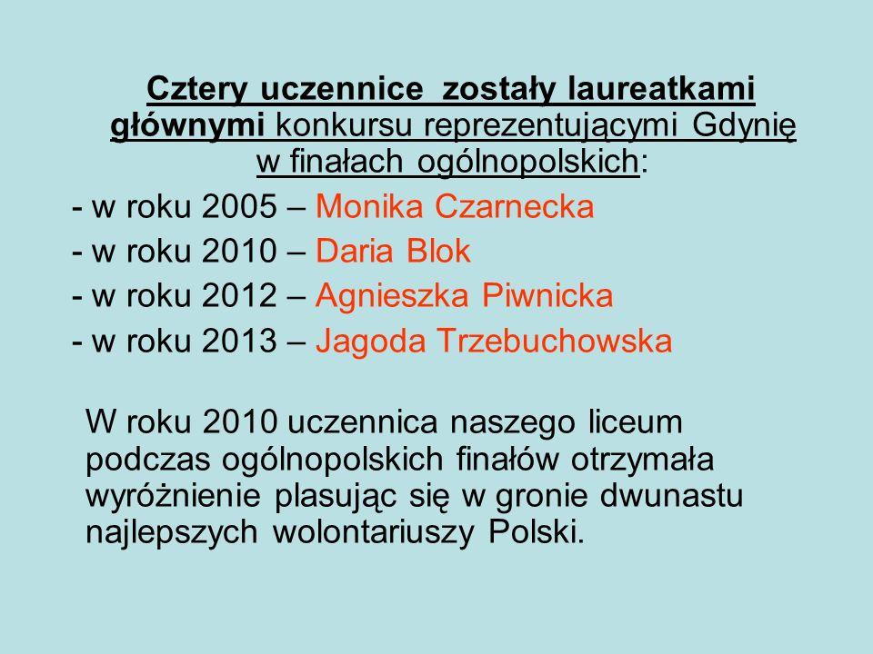 Cztery uczennice zostały laureatkami głównymi konkursu reprezentującymi Gdynię w finałach ogólnopolskich: