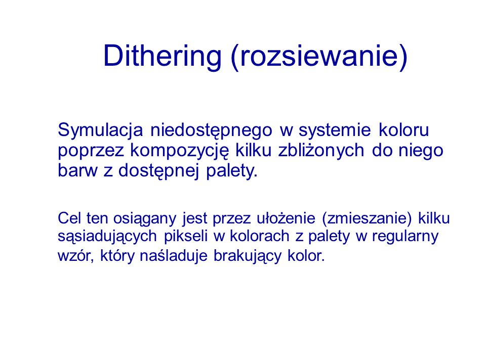 Dithering (rozsiewanie)