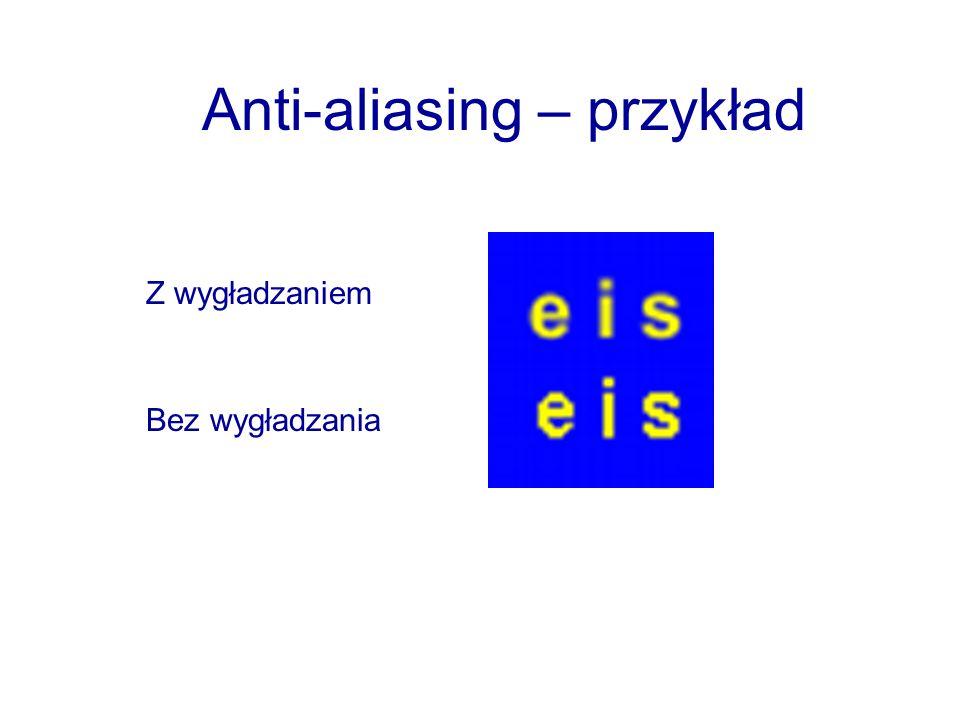 Anti-aliasing – przykład