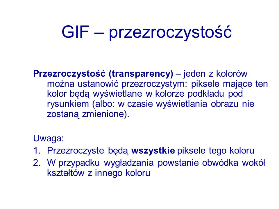 GIF – przezroczystość
