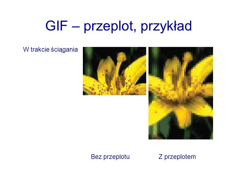 GIF – przeplot, przykład