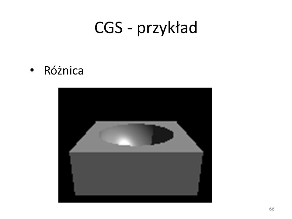 CGS - przykład Różnica