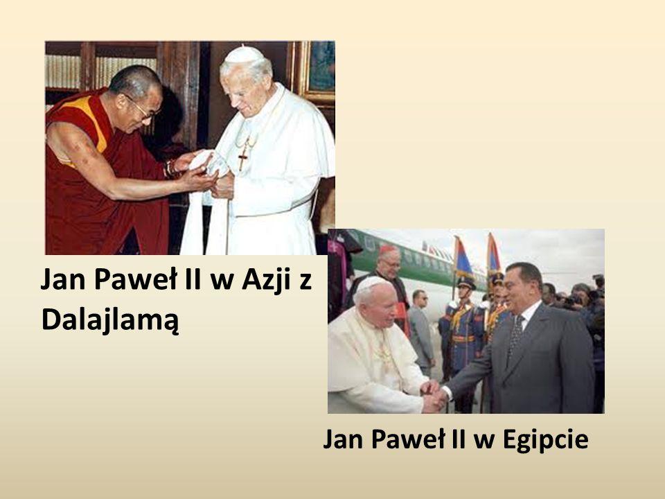 Jan Paweł II w Azji z Dalajlamą