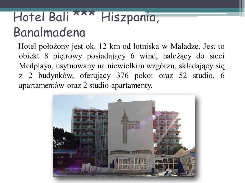 Hotel Bali *** Hiszpania, Banalmadena