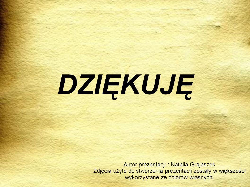 Autor prezentacji : Natalia Grajaszek