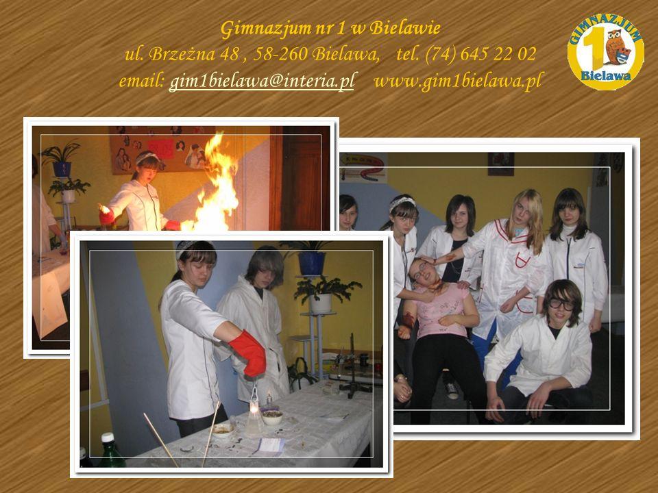 Gimnazjum nr 1 w Bielawie ul. Brzeżna 48 , 58-260 Bielawa, tel