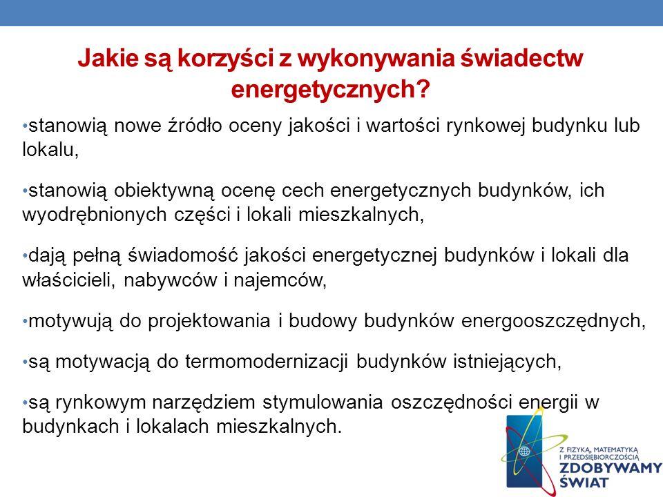 Jakie są korzyści z wykonywania świadectw energetycznych
