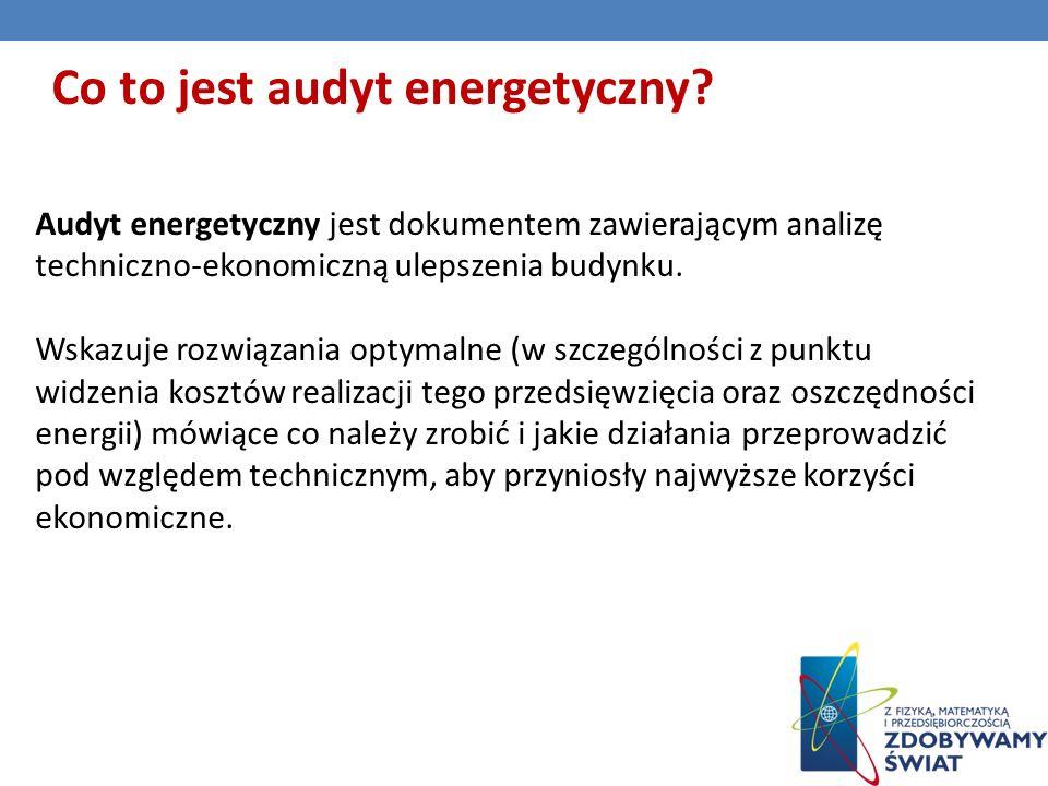 Co to jest audyt energetyczny