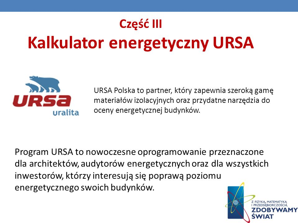 Kalkulator energetyczny URSA