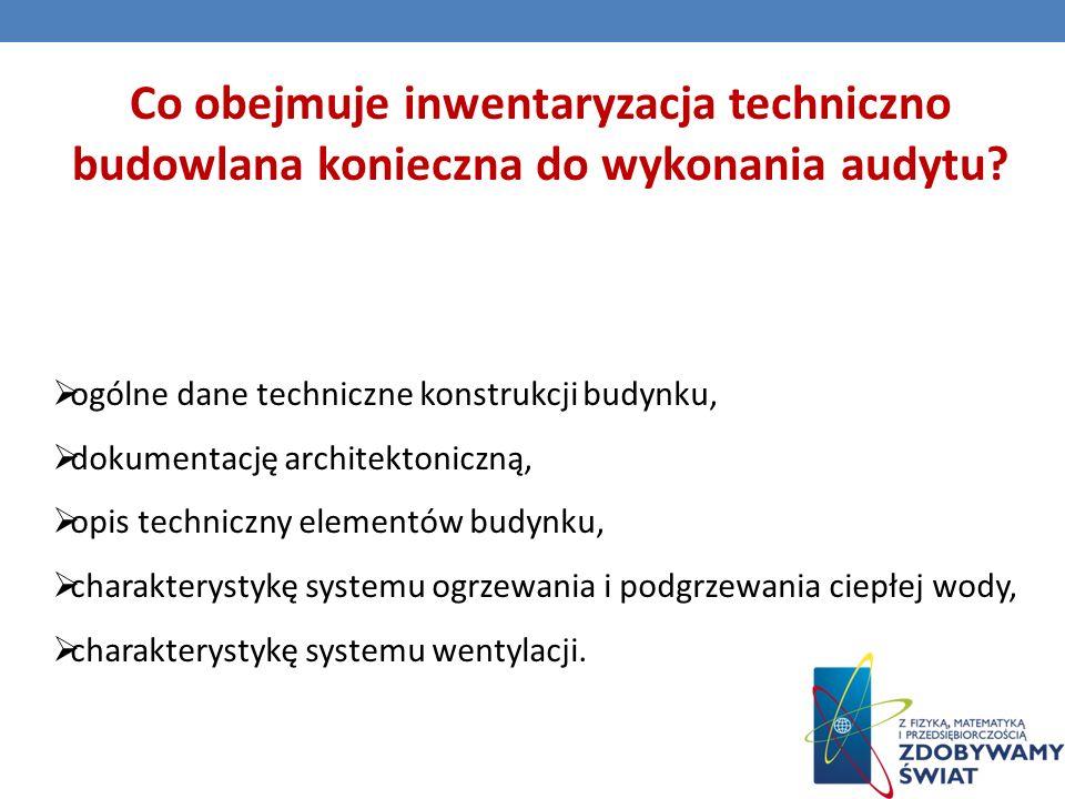 Co obejmuje inwentaryzacja techniczno budowlana konieczna do wykonania audytu