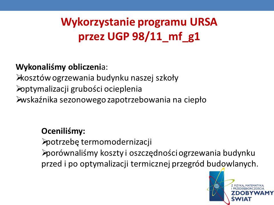 Wykorzystanie programu URSA