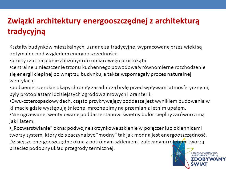 Związki architektury energooszczędnej z architekturą tradycyjną