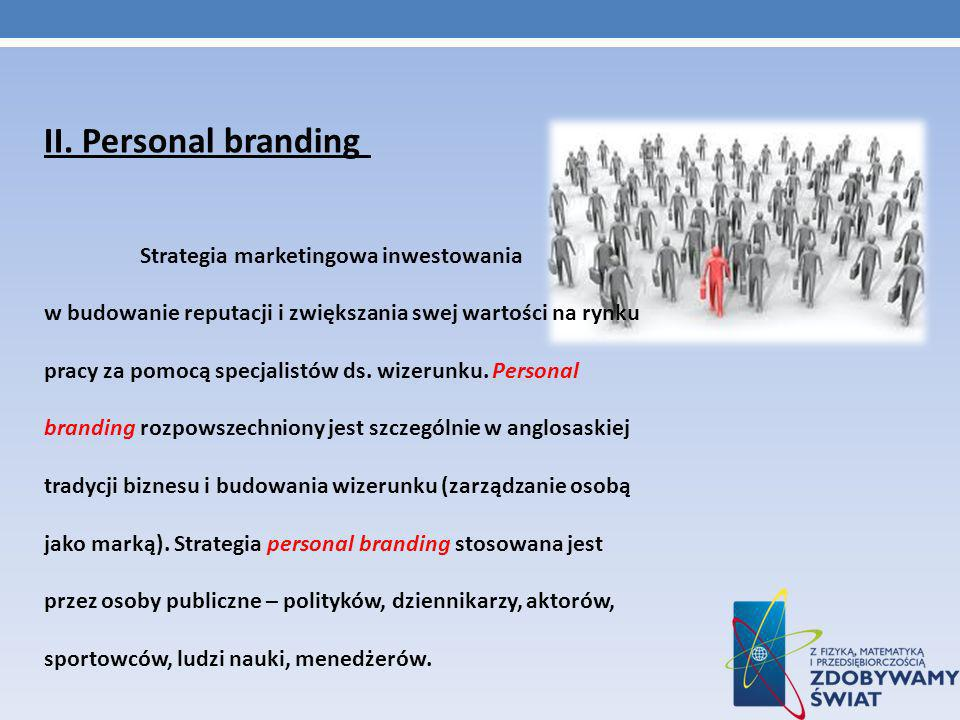 II. Personal branding