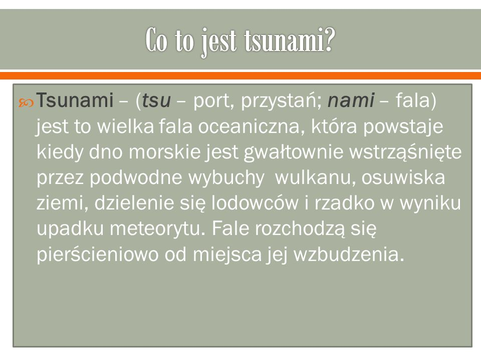 Co to jest tsunami
