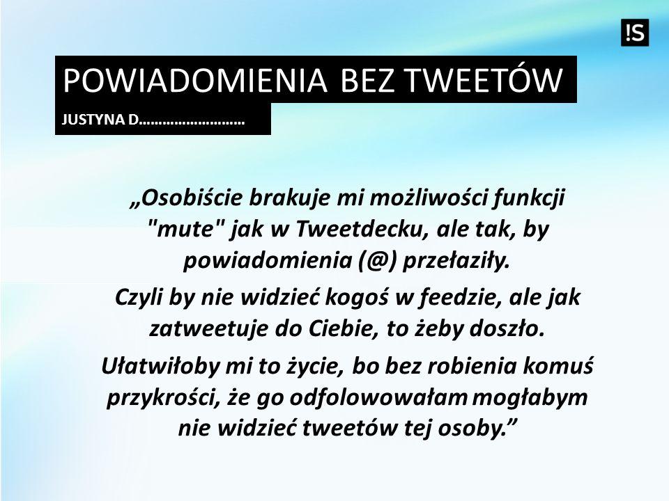 Powiadomienia bez tweetów
