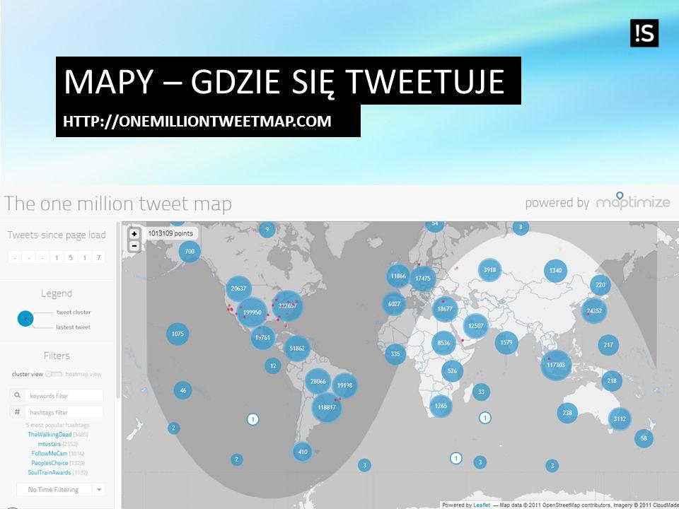 Mapy – gdzie się tweetuje