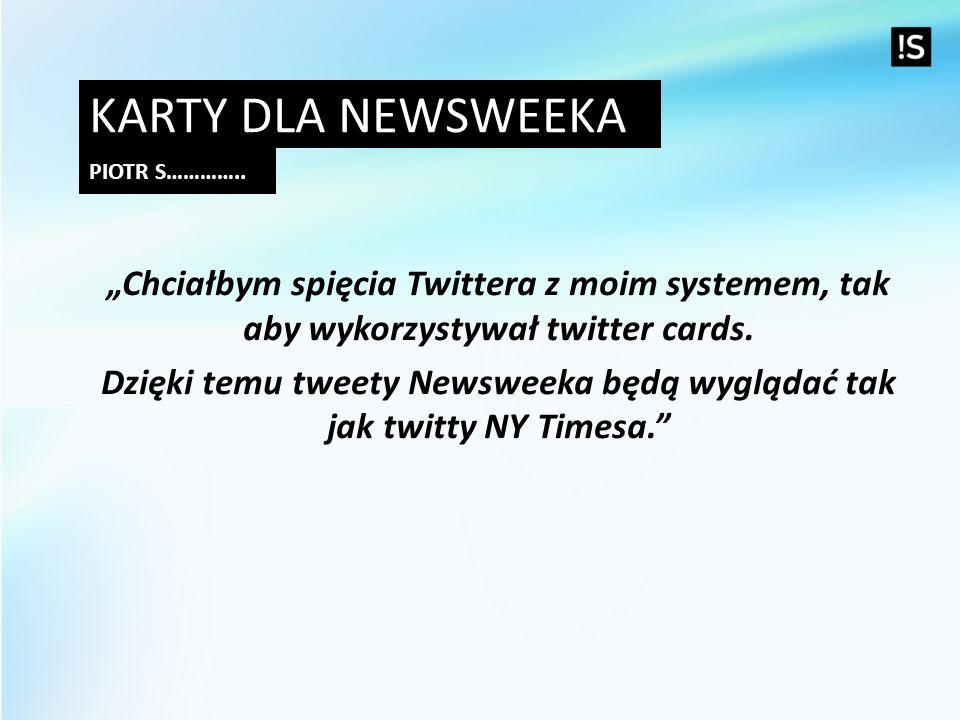 Dzięki temu tweety Newsweeka będą wyglądać tak jak twitty NY Timesa.